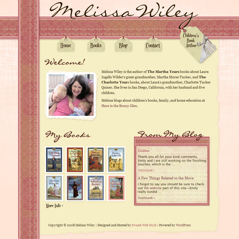 Author Melissa Wiley