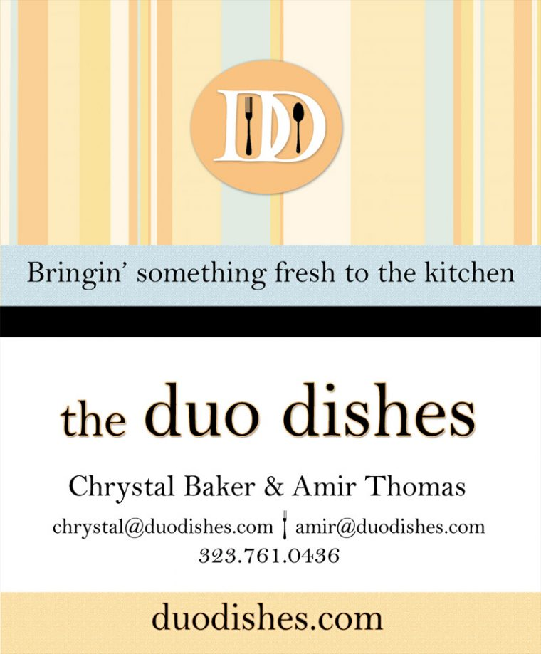Duo Dishes - Business Card