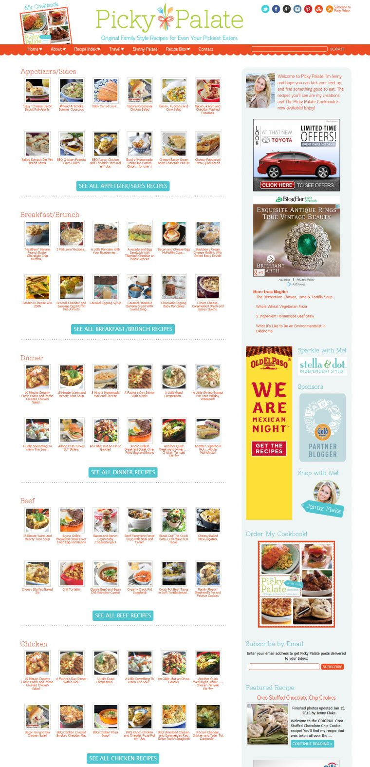 Blog Design for Picky Palate by Swank Web Design