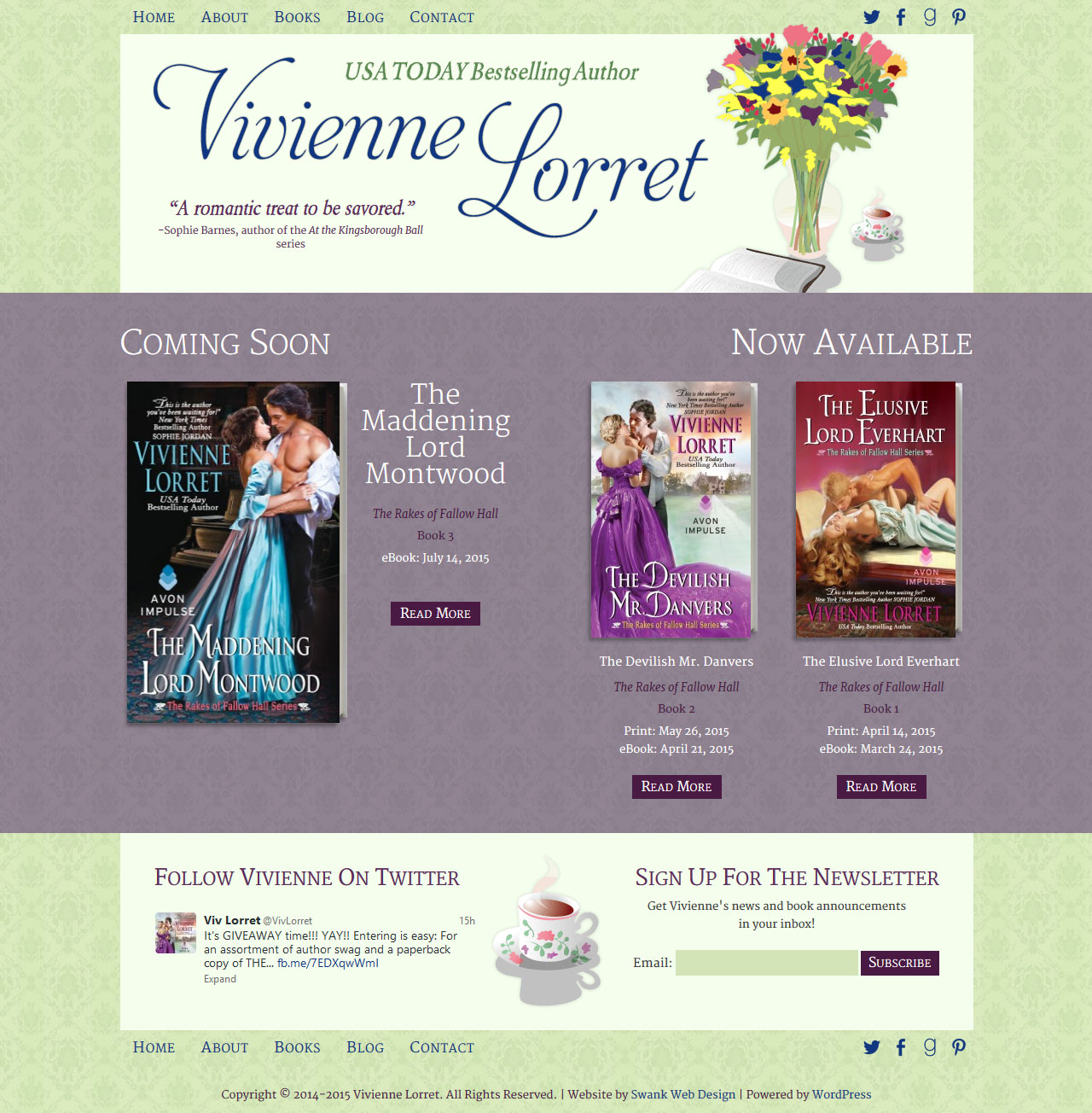 Romance Author Vivienne Lorret