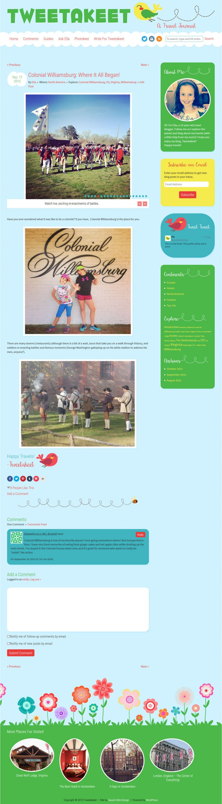 Blog Design for Tweetakeet by Swank Web Design
