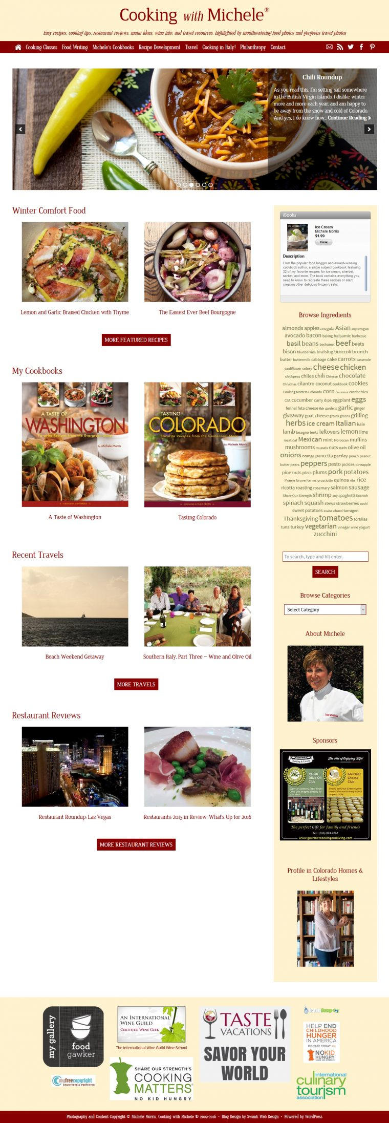 Blog Design for Cooking With Michelle by Swank Web Design