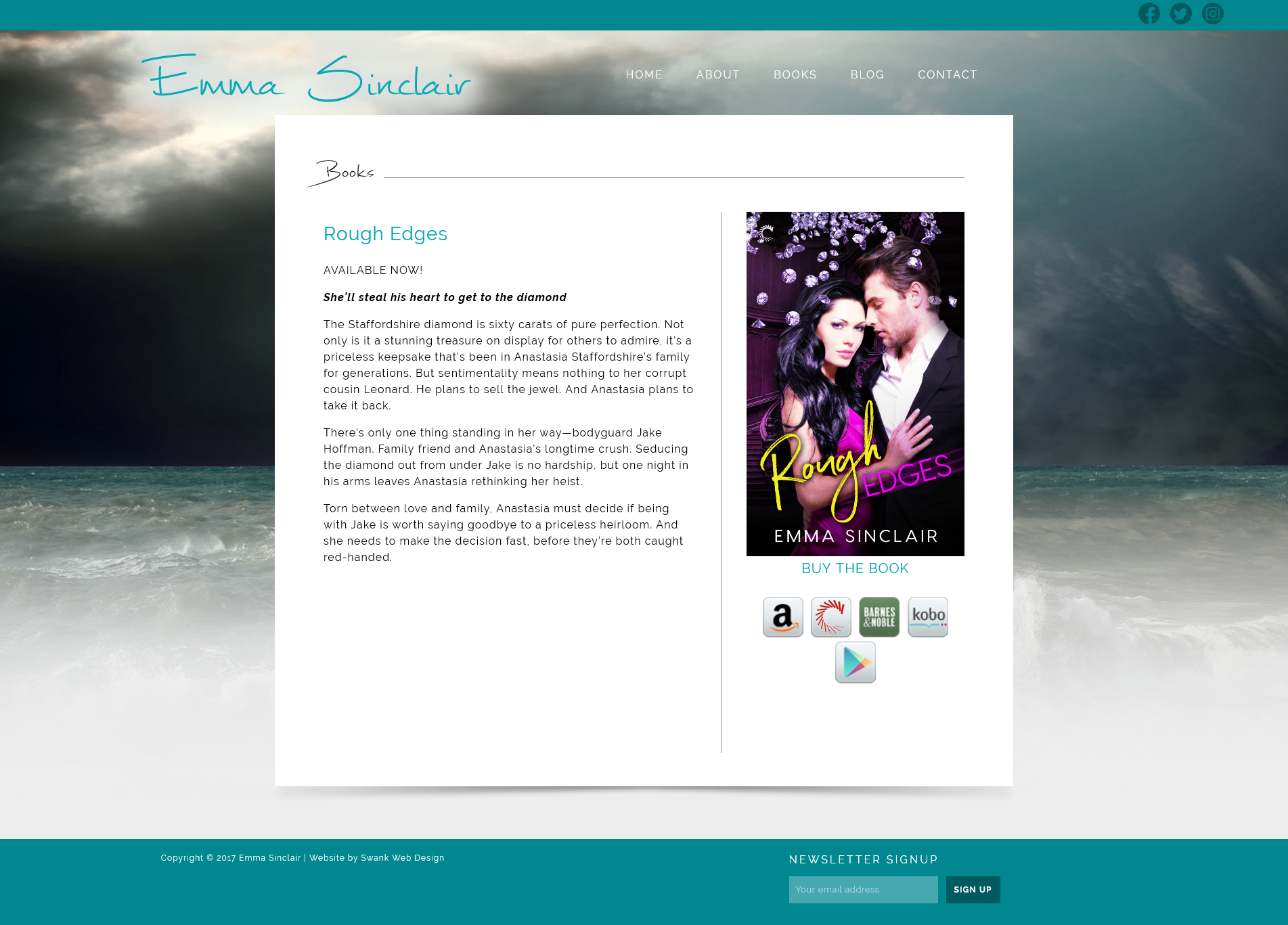 Website Design for Author Emma Sinclair by Swank Web Design