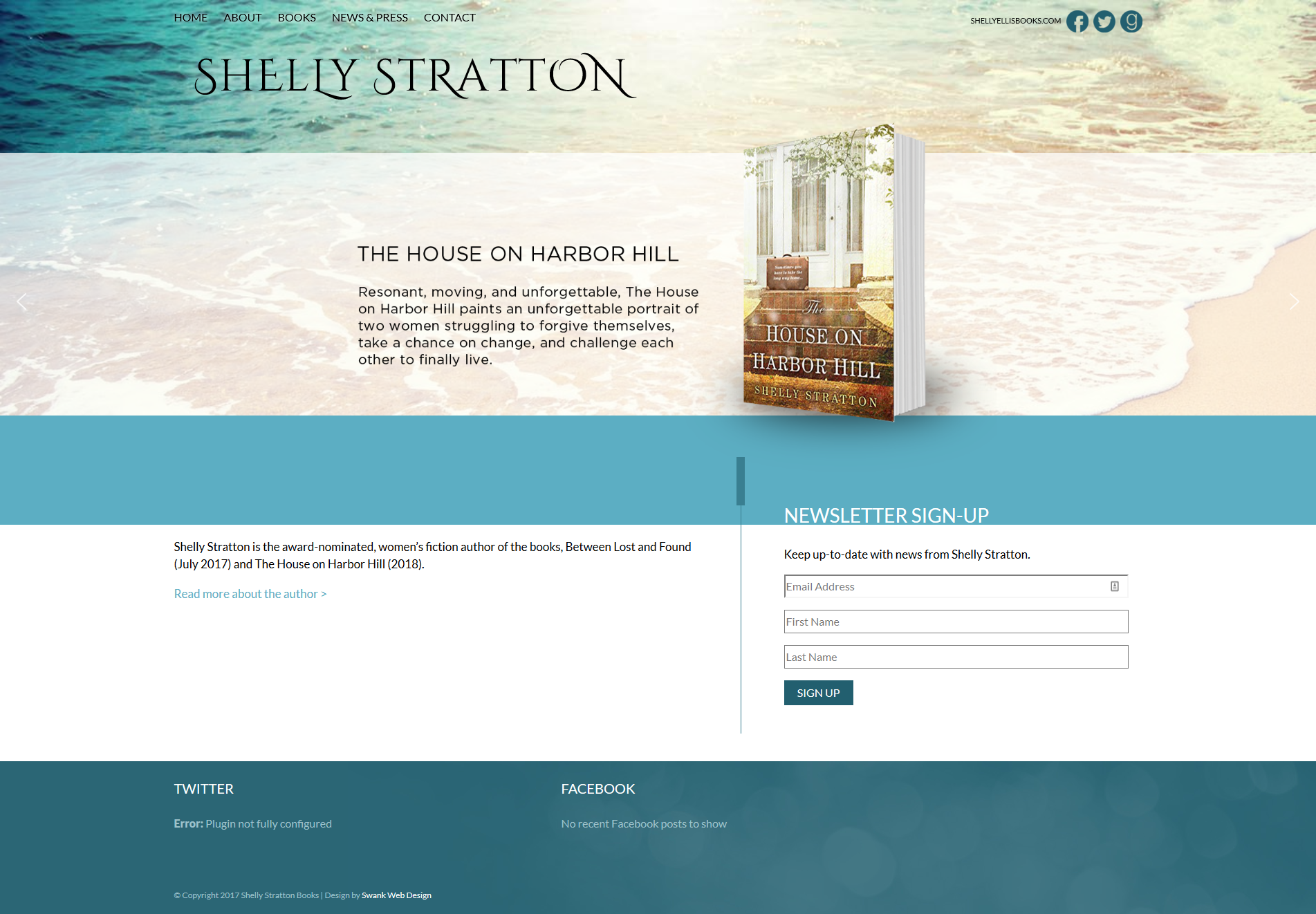 Website Design for Author Shelly Stratton by Swank Web Design