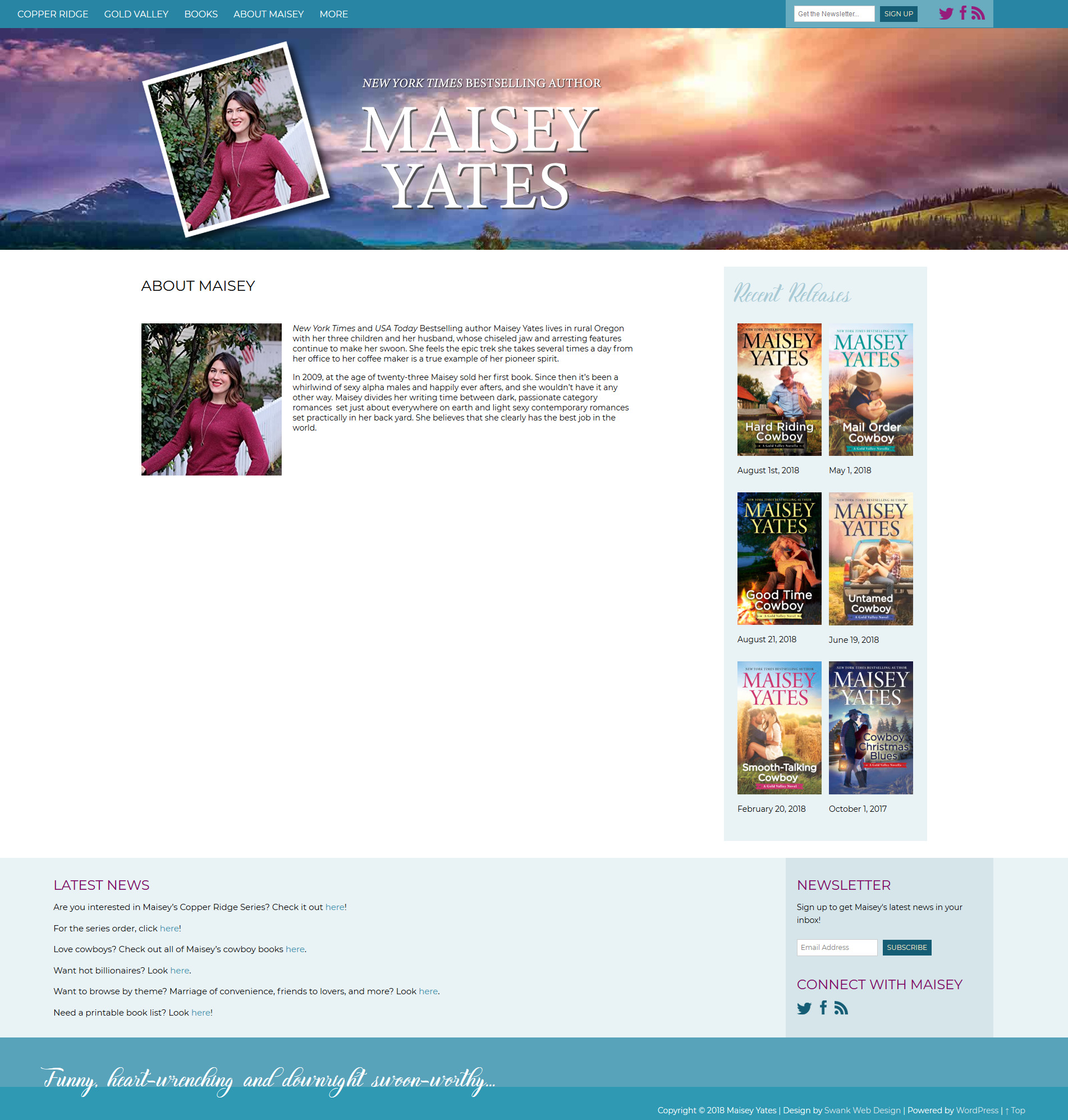 Website Design for Author Maisey Yates by Swank Web Design