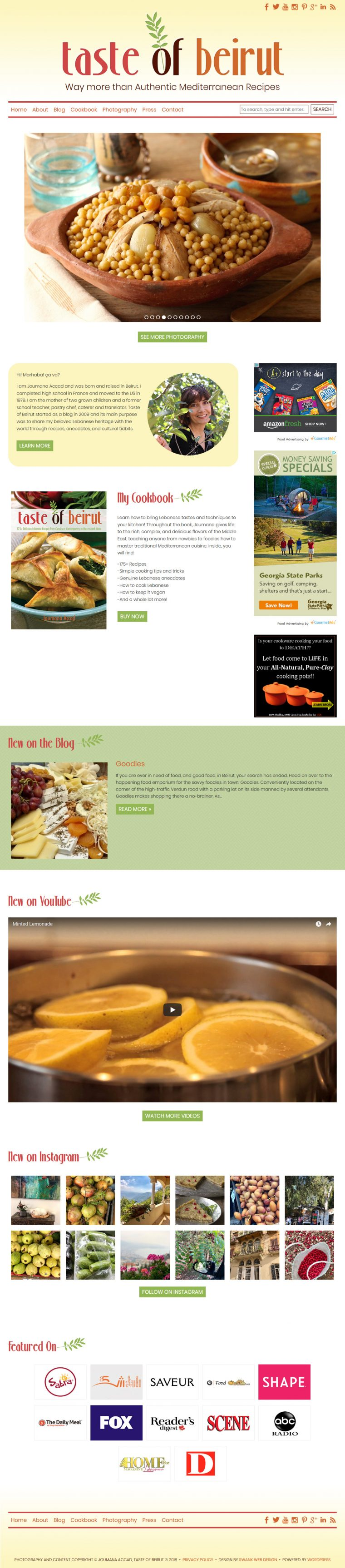 Website Design for Taste of Beirut by Swank Web Design