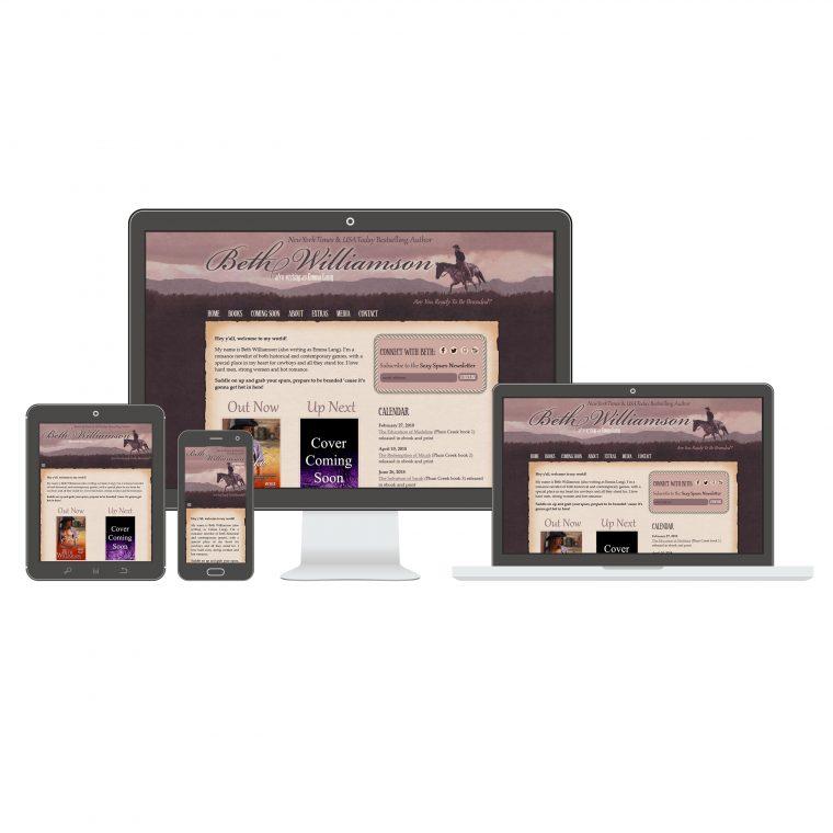 Website Design for Author Beth Williamson by Swank Web Design