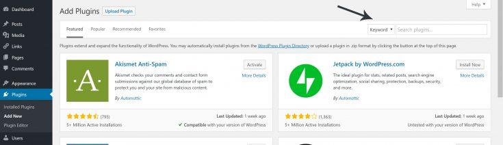 plugin page settings