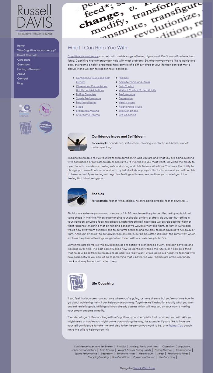 Website Design for Russell Davis by Swank Web Design