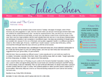 Author Julie Cohen - Blog